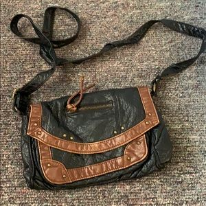 Black and brown leather American eagle crossbody